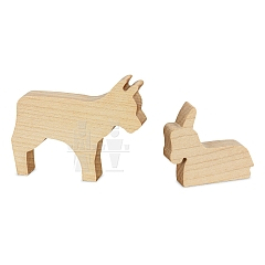ML Ox and Donkey natural wood