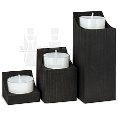 ML Set of Steles black stained 3 pieces