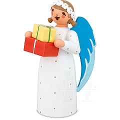 Angel with Gift Packages white