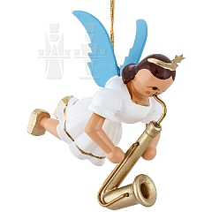 Floating Angel colored with Saxophone