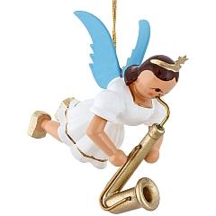 Schwebeengel farbig mit Saxophon