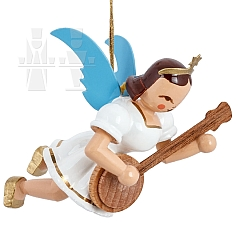 Floating Angel colored with Banjo