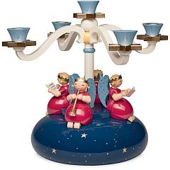 Tischleuchter vierarmig mit 4 Engeln