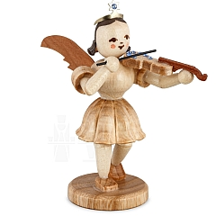 Kurzrockengel Naturholz mit Violine und Swarovski Elementen