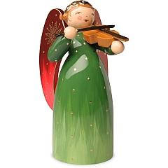 Engel reich bemalt grün mit Violine