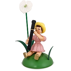 Flower Child colored sitting with Anthurium and Bassoon