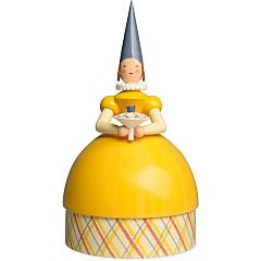 Knauldame Prinzessin gelbes Kleid