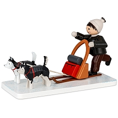 Boy with Dog Sled brown from Ulmik