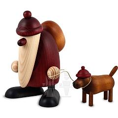 Weihnachtsmann mit Hund