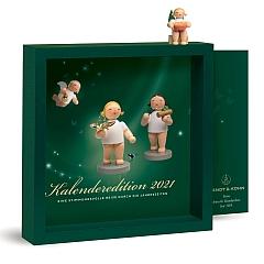 Kalender 2021 mit Figur Engel mit Spandose