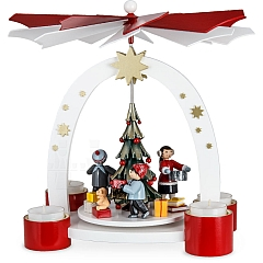Arch Pyramid with Christmas Tree and Children with Gifts limited
