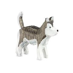Huskey gebeizt grau
