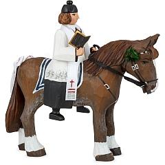 Sorbian costumes - Priest on horseback