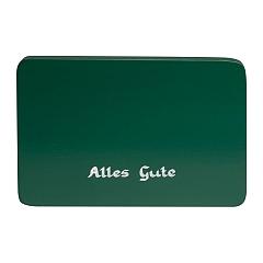 """Beschriftete Sockelplatte grün """"Alles Gute"""""""