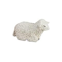 Schaf liegend lackiert für 7 cm Figuren