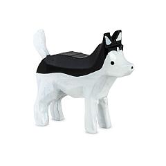 Huskey schwarz-weiß von Ulmik