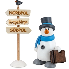 Snowman Fritz with Suitcase
