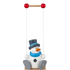 Snowman Otto on a Swing