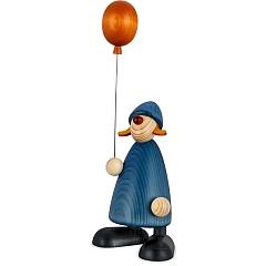 Gratulantin Lina groß mit Luftballon blau von Björn Köhler