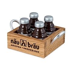 Getränkekasten mit vier Flaschen für Wicht