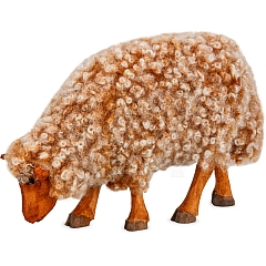 Schaf braun zur Krippe von Gotthard Steglich