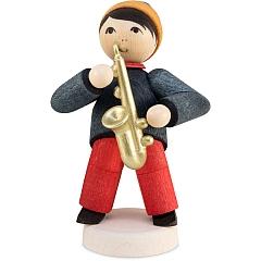 Wintermusiker mit Saxophon gebeizt von Ulmik