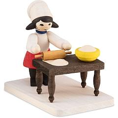 Plätzchenbäckerin mit Tisch gebeizt von Ulmik