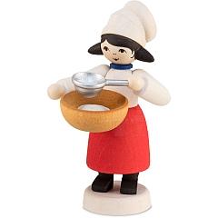 Plätzchenbäckerin mit Sieb gebeizt von Ulmik