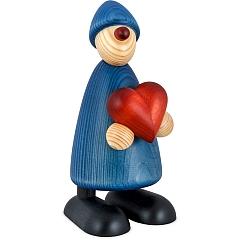Gratulant Theo blau mit Herz groß von Björn Köhler