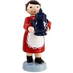 Kaffeekind Mädchen mit Kaffeekanne rot von Ulmik