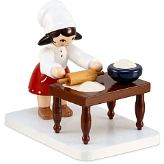 Plätzchenbäckerin mit Tisch rot von Ulmik