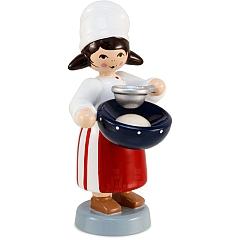 Plätzchenbäckerin mit Sieb rot von Ulmik