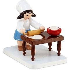Plätzchenbäckerin mit Tisch blau von Ulmik
