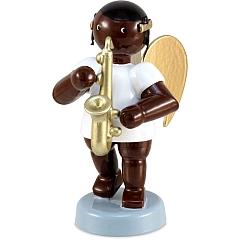 Afrikaner Engel mit Saxophon 6 cm