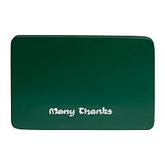 "Wendt & Kühn Beschriftete Sockelplatte grün ""Many Thanks"""