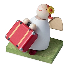 Guardian angel with suitcase