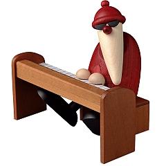 Weihnachtsmann am Piano braun