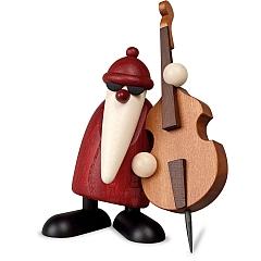 Weihnachtsmann am Kontrabass