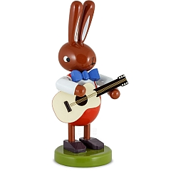 Hase groß mit Gitarre 16 cm