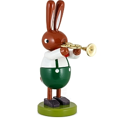 Hase groß mit Trompete 16 cm