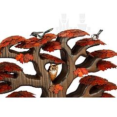 Roteiche mit Vögel Herbstfärbung