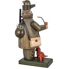 Räuchermann Jäger mit Langhaardackel