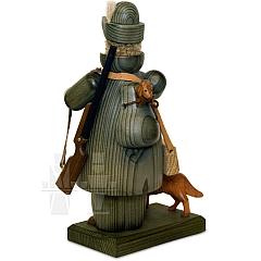 Räuchermann Jäger mit Norfolkterrier