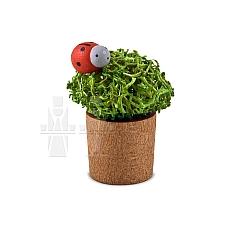 Blumentopf mit Marienkäfer als Miniatur von Günter Reichel