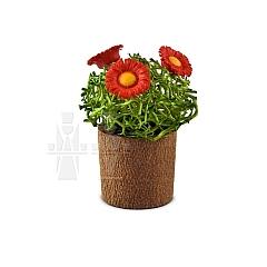 Blumentopf mit Blüten als Miniatur von Günter Reichel