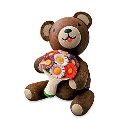 Glücksbärchen mit Blumenstrauß