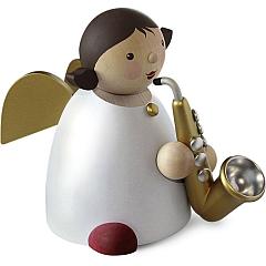 Schutzengel Größe 5 mit Saxophon gold